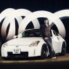 Light Painted Nissan 350z Drift Car for SJB Garage - Light Painted 350z Portrait Photographed by Rick Nunn