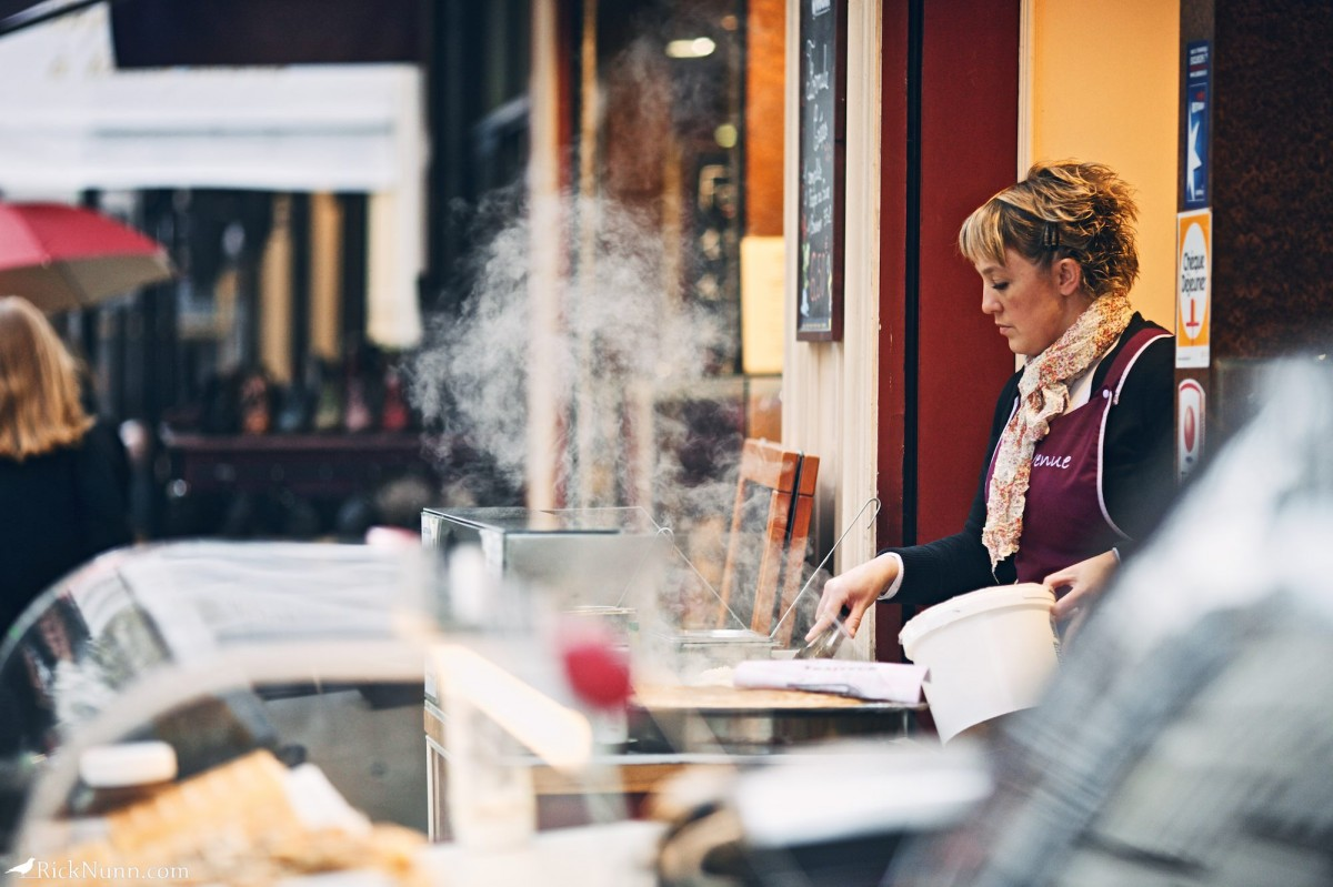 Paris - Crepe maker Photographed by Rick Nunn