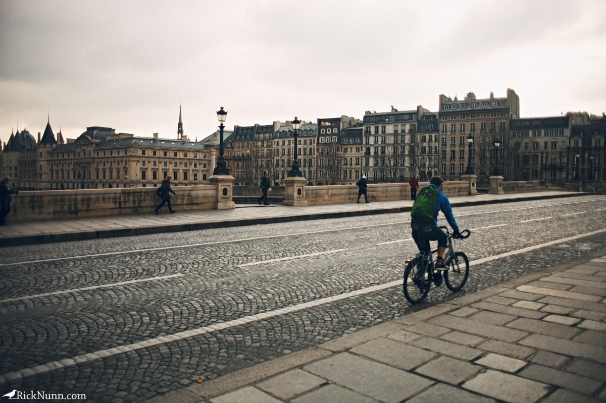 Paris - Bike on a bridge Photographed by Rick Nunn
