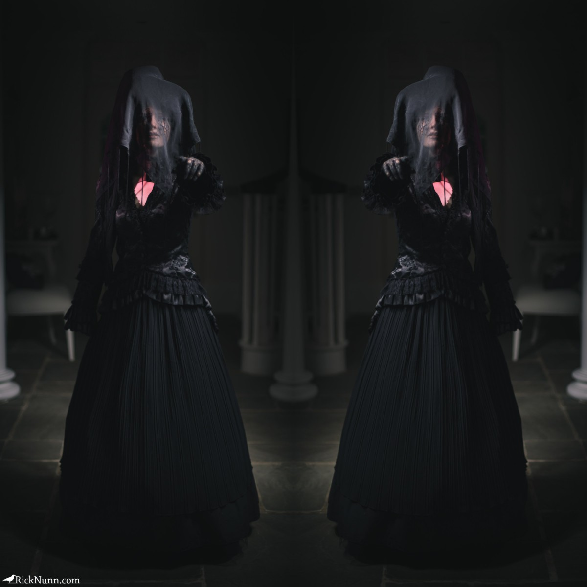 The Woman In Black – A 5 Minute Portrait - Woman In Black - 1 Photographed by Rick Nunn