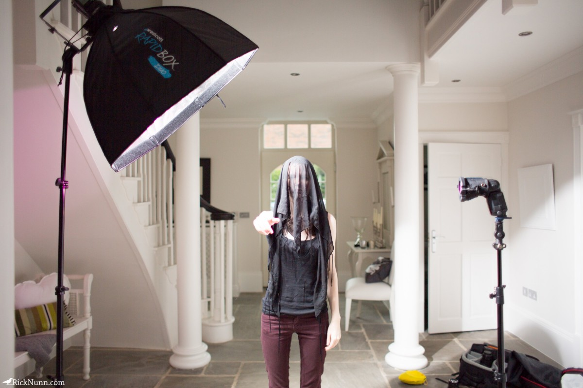 The Woman In Black – A 5 Minute Portrait - Woman In Black - The Setup Photographed by Rick Nunn