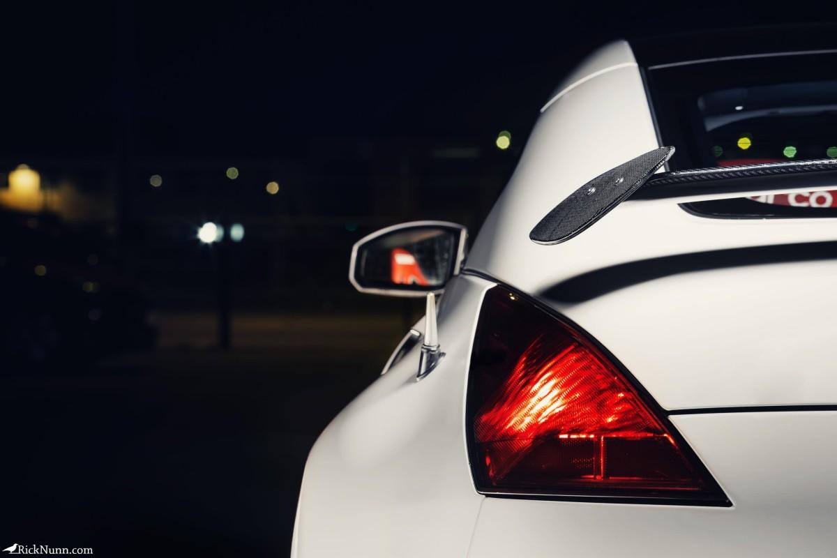Light Painted Nissan 350z Drift Car for SJB Garage - Light Painted Nissan 350z Drift Car Back Photographed by Rick Nunn