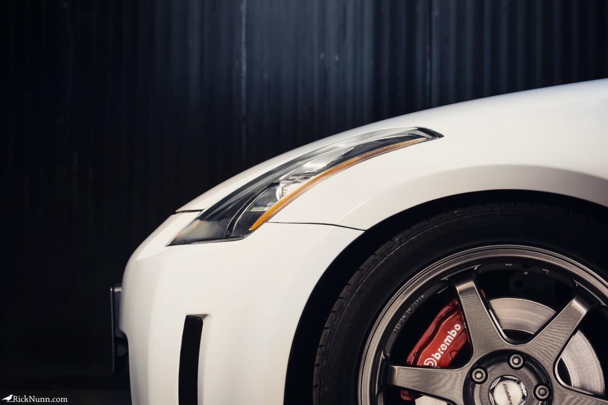 Light Painted Nissan 350z Drift Car for SJB Garage - Light Painted Nissan 350z Drift Car Side Photographed by Rick Nunn