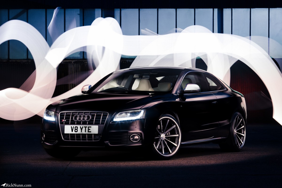 Light Painting The V8 Audi S5 - Light Painted V8 Audi S8 - Alt Photographed by Rick Nunn