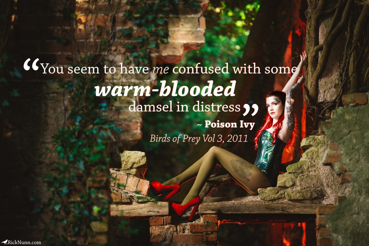 Poison Ivy Cosplay — Confused - Poisn Ivy Cosplay Quoto Photographed by Rick Nunn