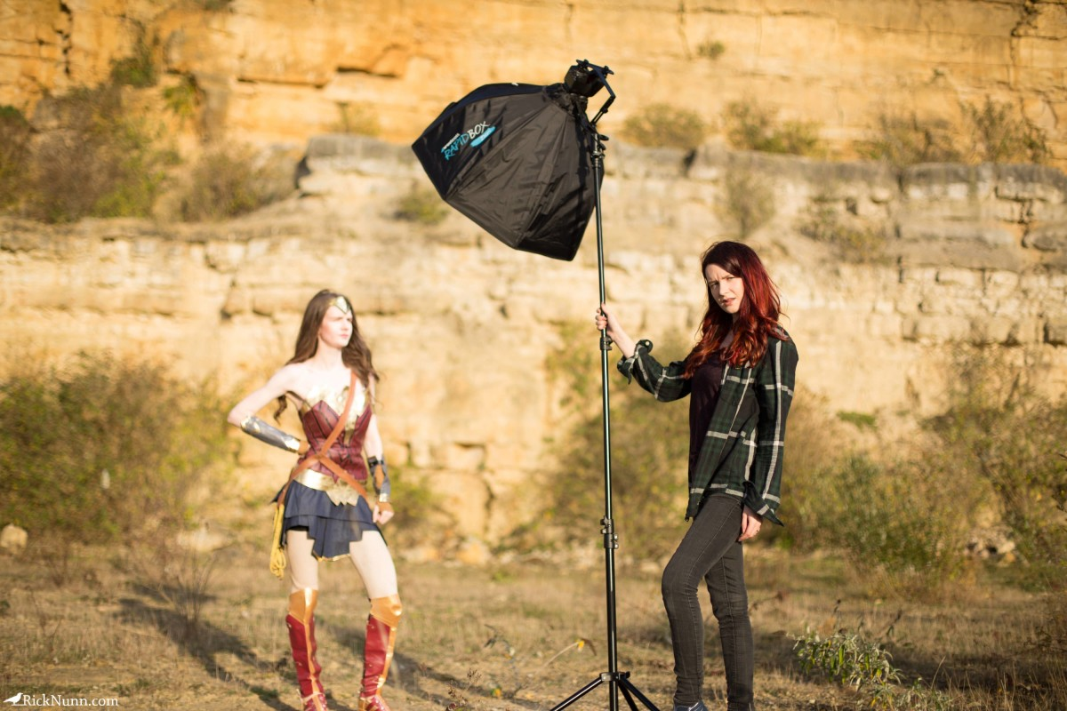 Wonder Woman Cosplay — I Will Fight - Wonder Woman Cosplay 12 - Setup Photographed by Rick Nunn