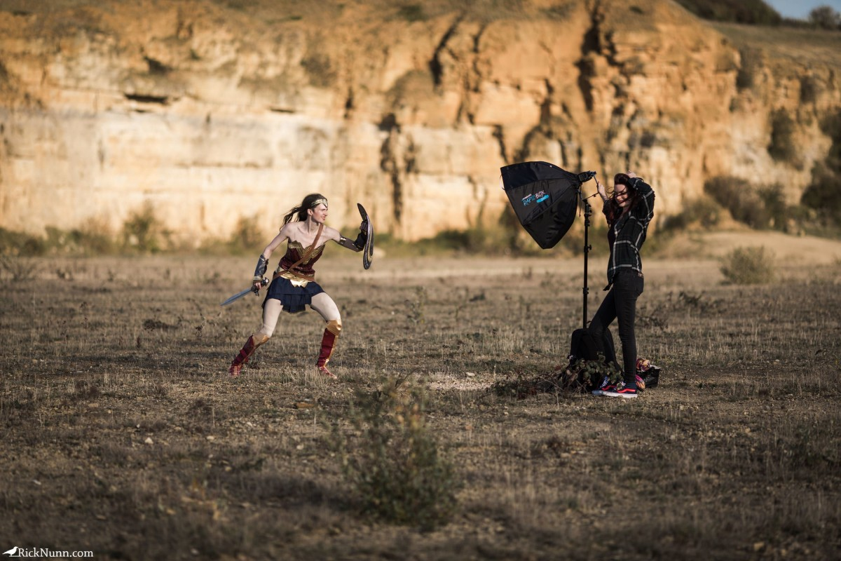 Wonder Woman Cosplay — I Will Fight - Wonder Woman Cosplay 4 - Setup Photographed by Rick Nunn