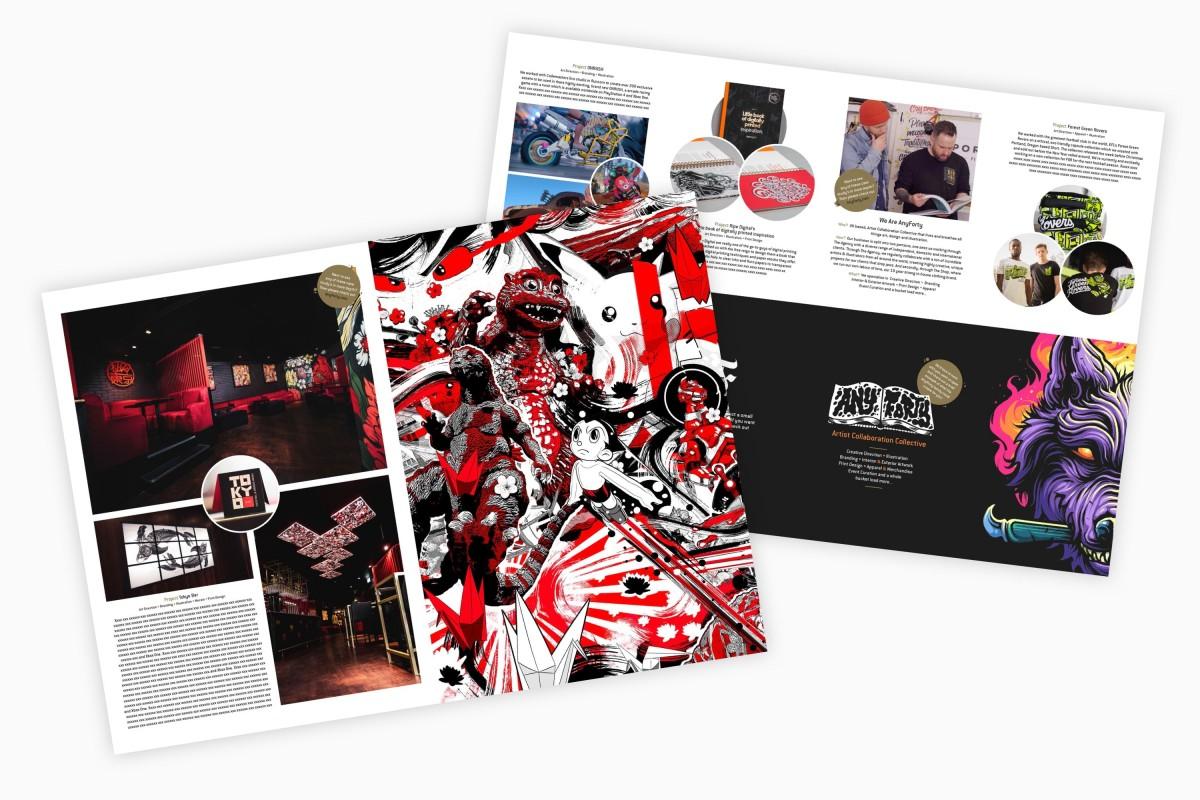 AnyForty x Rick Nunn - AnyForty Tokyo Mailer Mockup Photographed by Rick Nunn