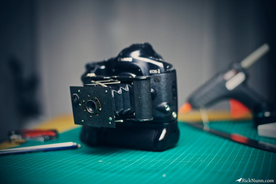 Rick Nunn's Hybrid Kodak Vest Pocket/Canon DSLR Camera