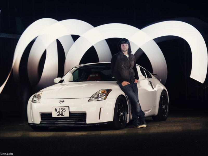 Light Painted Nissan 350z Drift Car for SJB Garage - Rick Nunn