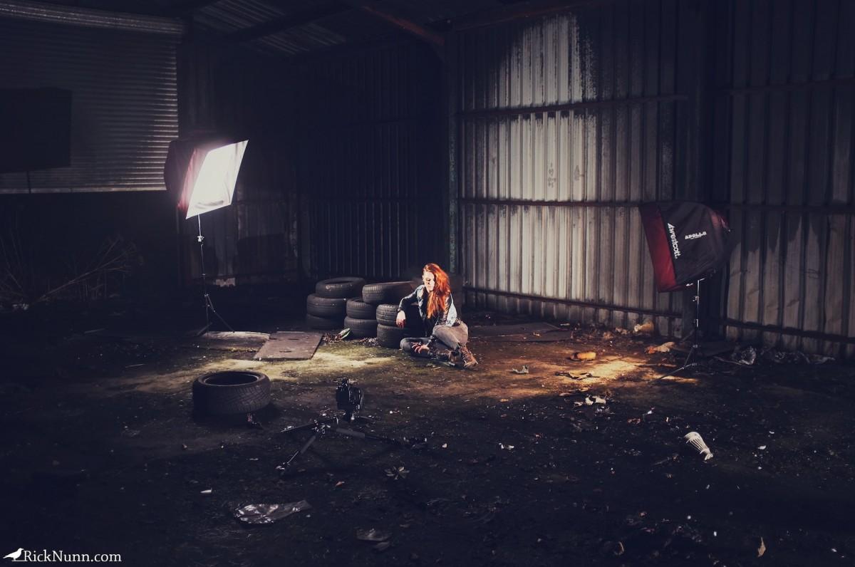 Leah / Warehouse Part One - Leah Wearhouse Setup Photographed by Rick Nunn