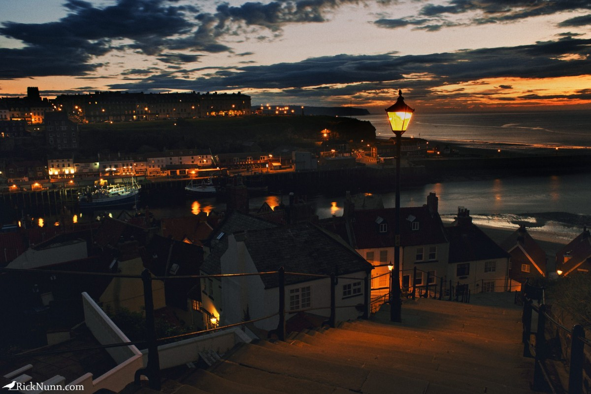 Whitby 2012 - 34 Whitby Village At Night Photographed by Rick Nunn