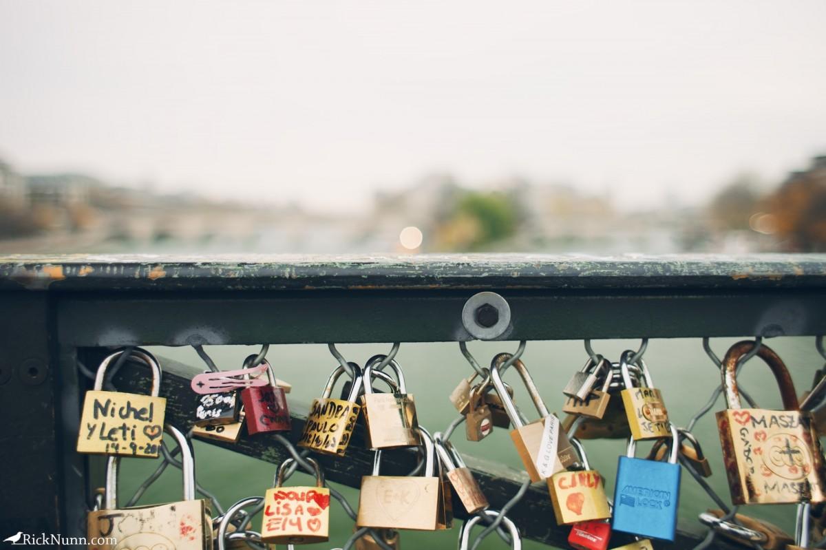 Paris - Our padlock Photographed by Rick Nunn