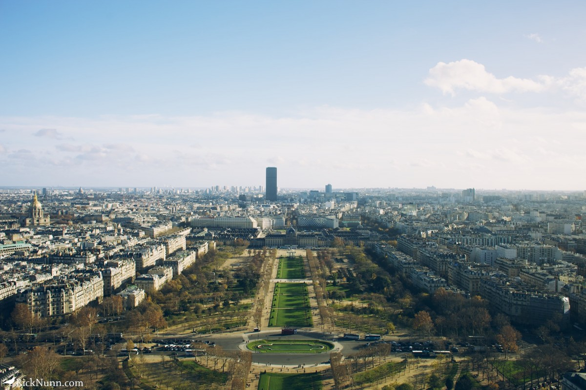 Paris - View from the tower Photographed by Rick Nunn