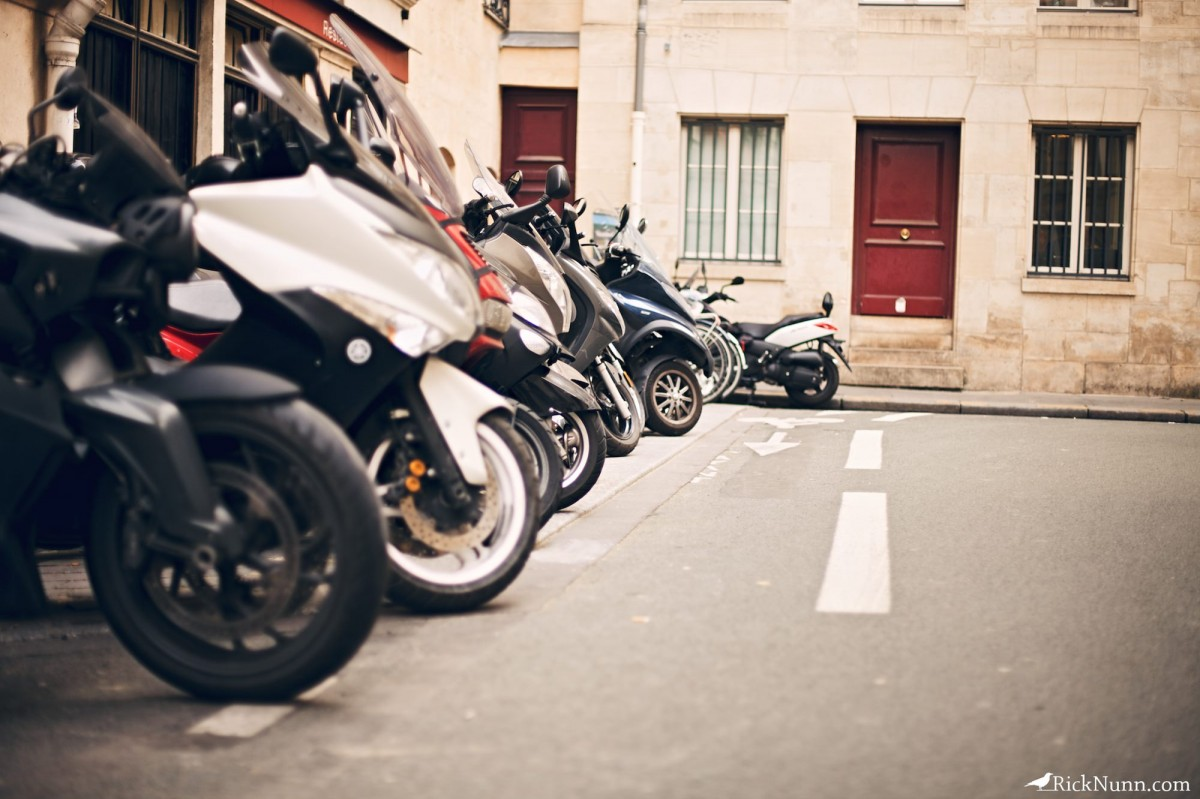 Paris - Mopeds  Photographed by Rick Nunn