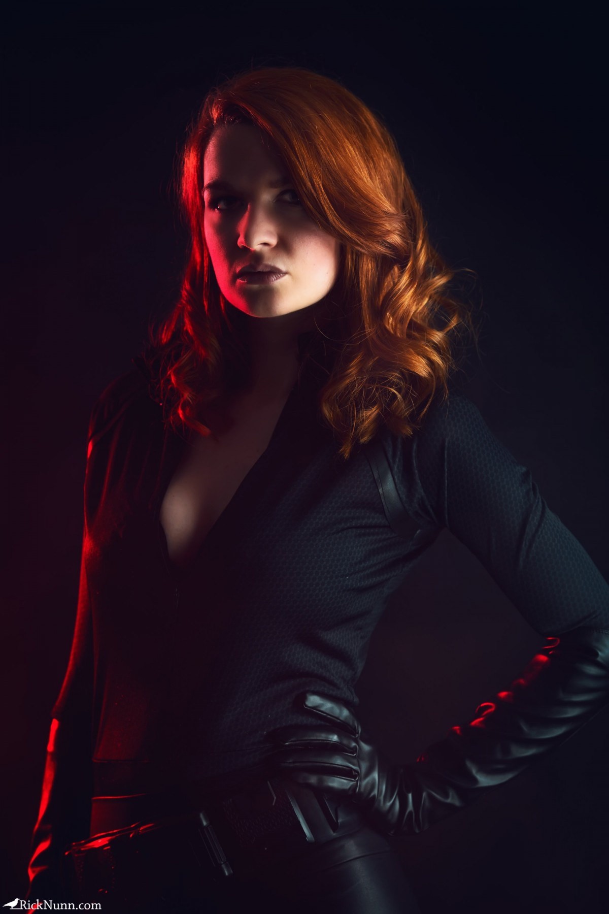 Black Widow - Strobist Portrait of Spadge as Black Widow Photographed by Rick Nunn