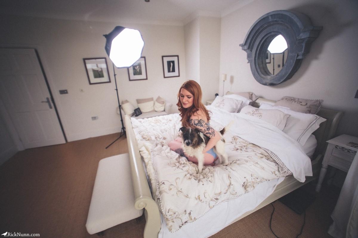 JulieK Lingerie shoot with Spadgerina - Sparrow x JulieK Behind The Scenes Photographed by Rick Nunn