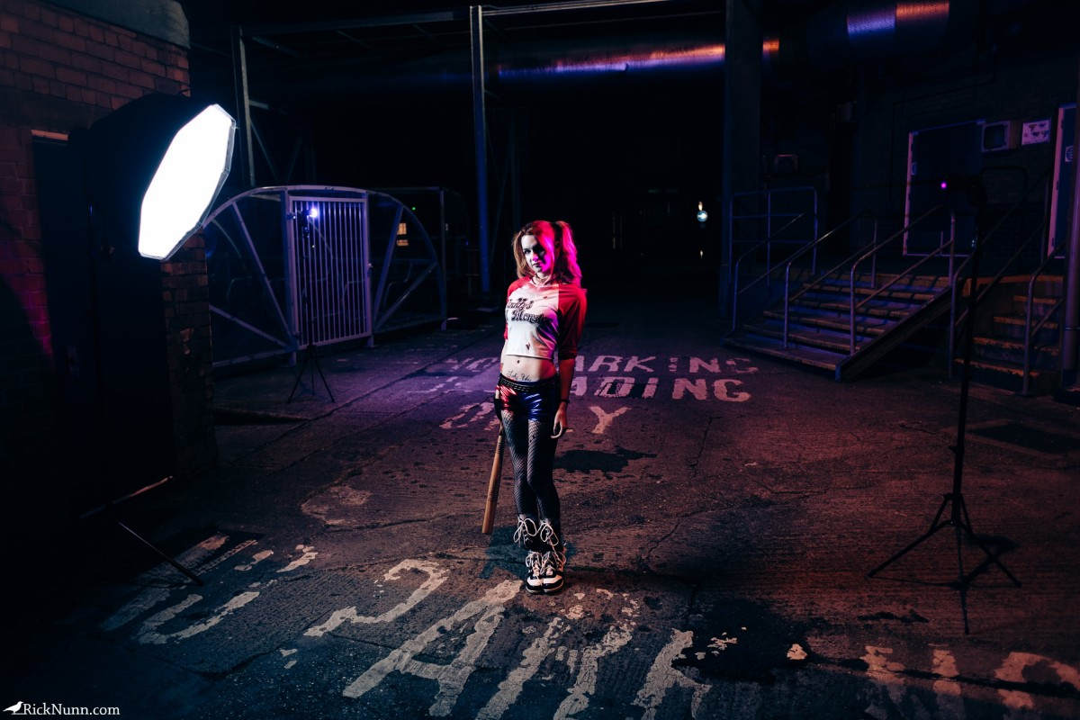 Harley Quinn Cosplay — I'm Bored, Play With Me - a-year-of-cosplay-1-of-12-harley-quinn-9-behind-the-scenes Photographed by Rick Nunn