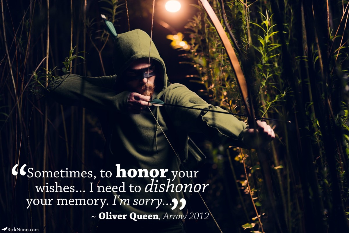 Green Arrow Cosplay — Dishonor - Green Arrow Cosplay 1 - Quoto Photographed by Rick Nunn