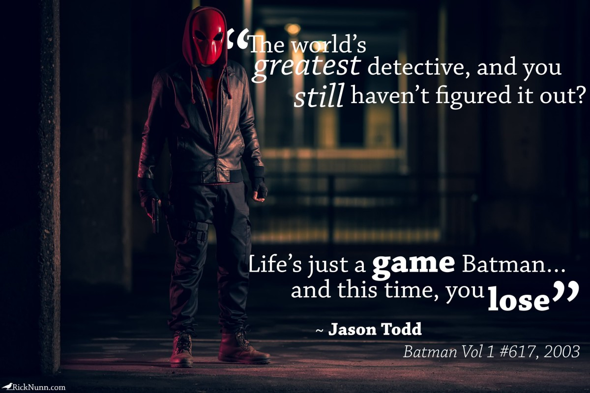 Red Hood Cosplay — You Lose - Red Hood Cosplay Quoto Photographed by Rick Nunn