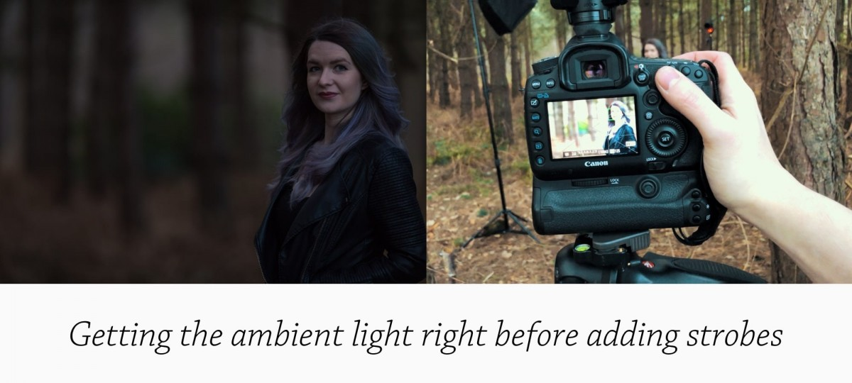 How I Shoot A Strobist Portrait - Getting the ambient light right before adding strobes Photographed by Rick Nunn