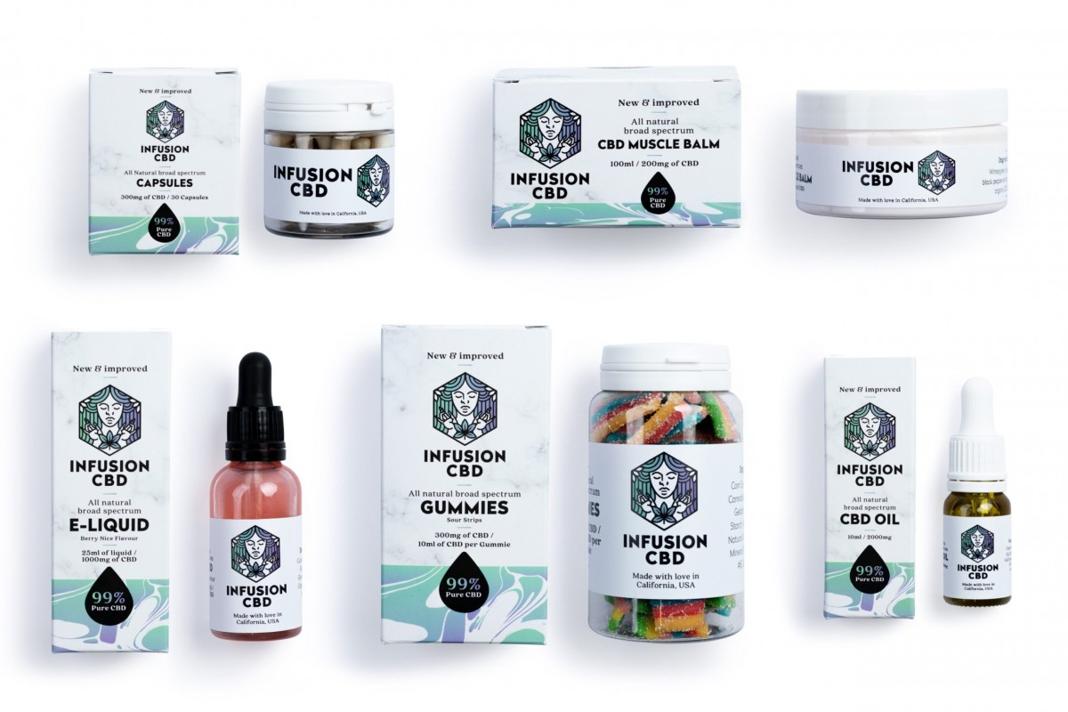 Infusion CBD Product Photography - Infusion Studio 1 Photographed by Rick Nunn