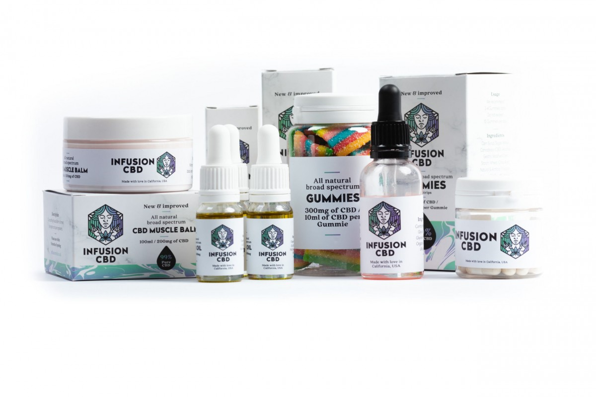 Infusion CBD Product Photography - Infusion Studio 3 Photographed by Rick Nunn