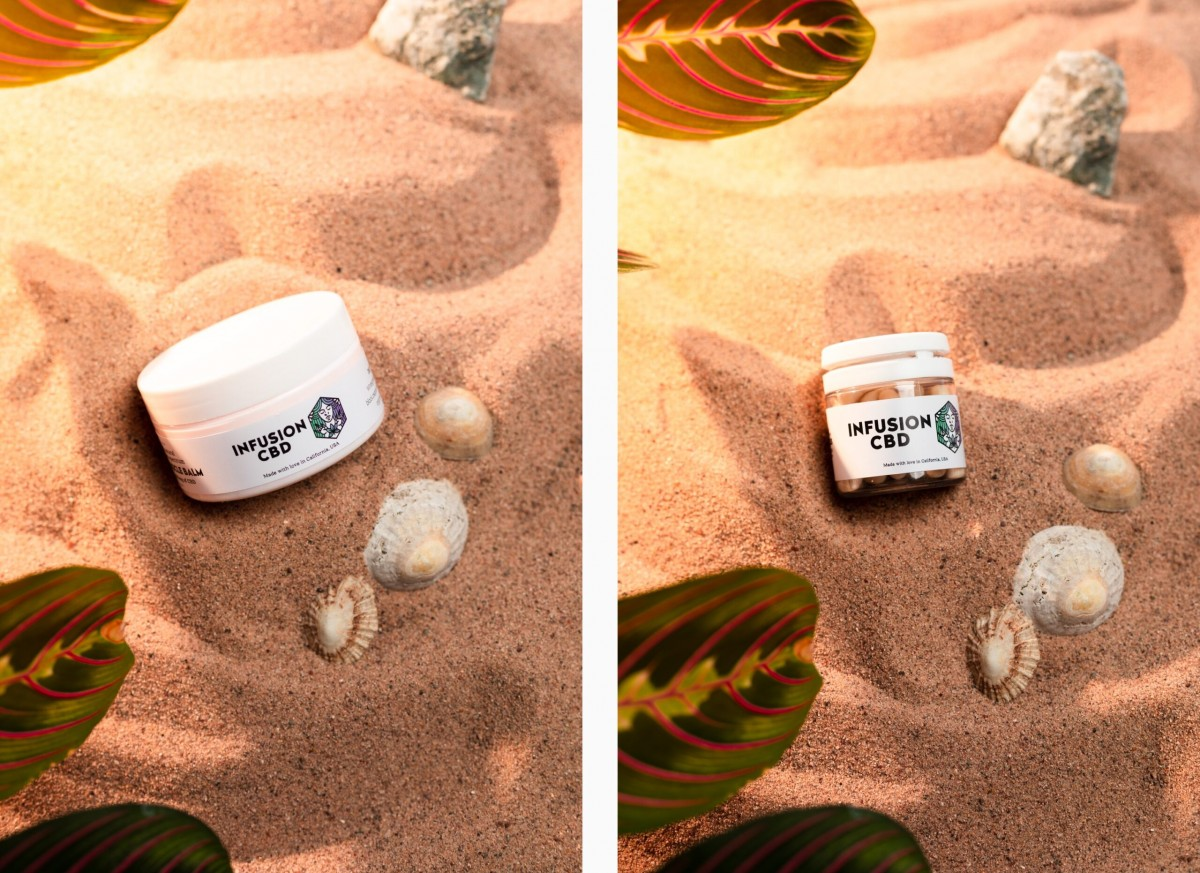 Infusion CBD Product Photography - Infusion Studio 7 Photographed by Rick Nunn