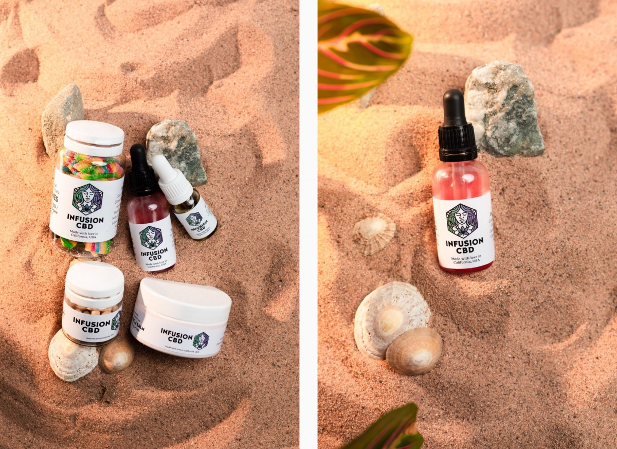 Infusion CBD Product Photography - Infusion Studio 8 Photographed by Rick Nunn